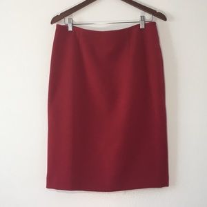 Calvin Klein Red Pencil Skirt in Size 8